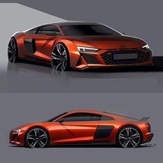 Car Design World (@cardesignworld) • Photos et vidéos Instagram Car Design Sketch, Car Sketch, Muscle Cars, Audi R8 V10, Concept Cars, Cars And Motorcycles, Luxury Cars, Cool Cars, Super Cars