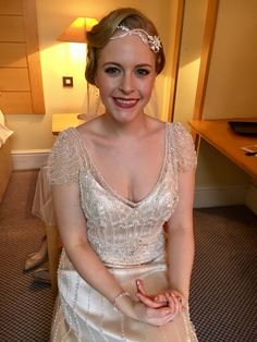 One of our lovely brides from the weekend Hair & makeup Lipstick and Curls http://www.lipstickandcurls.net/services/bridal-styling/