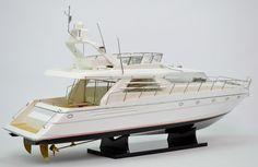 """PRINCESS 60 Yacht Model 35"""" Princess Yachts, Wood Boat Plans, Model Hobbies, Jon Boat, Tug Boats, Speed Boats, Boat Building, Model Ships, Sailing Ships"""