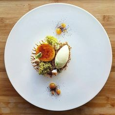 Vanilla creme brulee • matcha • sponge cake • @vincent.angebault #food #foodie #foodporn #foodgasm #foodgram #foodphotography #vanilla #cremebrulee #icecream #caramel #pastry #sorbet #berries #goodlife #cheflife #pastrychef #gourmet #art #artonaplate #sweet #dessert #sweettooth #fancy #instafood #chocolate #matcha #baking #greentea #spongecake #patisserie .