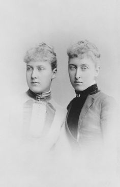 Princess Helena Victoria and Princess Marie Louise of Schleswig-Holstein, 1887 [in Portraits of Royal Children Vol.36 1887-1888]   Royal Col...