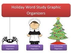 Free Word Work Graphic Organizer for Holiday Spelling Words