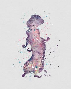 Princess Jasmine 2 Watercolor Art