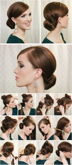 59 best Ideas for hair braids styles chignons Work Hairstyles, Pretty Hairstyles, Braided Hairstyles, Wedding Hairstyles, Hairstyle Ideas, Party Hairstyle, Simple Hairstyles, Bridal Hairstyle, Updo Hairstyle