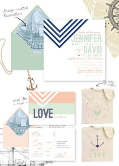 whitman suite, transformed  nautical invitation draft board for jennifer