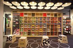 Reebok store in Covent Garden by Brown Studio London UK - concept by Ziba Design, Portland Oregon.  #zibapdx