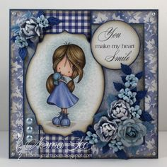 "From My Craft Room: You Make My Heart Smile - FFFC #211 ""Beautiful in Blues'"