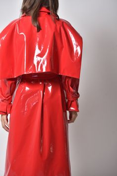 Cool Suits, Suits You, Raincoats For Women, Waterfall, Street Wear, Leather Jacket, Rainbow, Lady, How To Wear