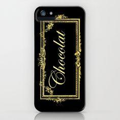 vintage chocolate iPhone & iPod Case #chocolate,#vintage,#frame,#gold,#black,#iphonecase