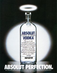 The first ad from the campaign. 1980. | The Best Of The Great Absolut Ads