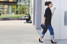 Os Jeans Favoritos Na Moda De Rua Nessa Temporada de Desfiles SS16