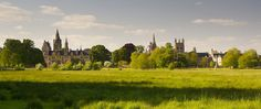 The spire-filled skyline of Oxford across Christ Church Meadow, yesterday afternoon. Summer appears to be back again, again.