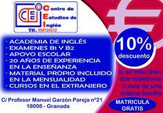 Descuentos en ACADEMIA C.E.I ¡¡Dale la vuelta al ticket!! del Dia% en calle Palencia.