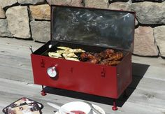 Repurpose an old toolbox into a DIY grill