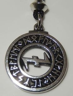 Viking Wolf ANGEL Pendant WOLF RUNES Necklace Norse VIDAR Wolf Energy Amulet