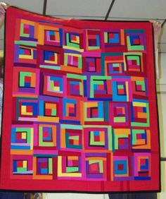 Gwen Marston Quilt at show-and-tell, 2009, Piecemakers Quilt Guild