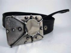 Teleporter Belt Buckle  Welded Stainless Steel  by RhythmicMetal, $60.00