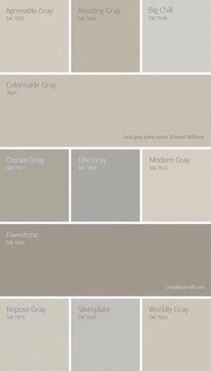 11 most amazing best gray paint colors Sherwin Williams Farmhouse Paint Colors, Kitchen Paint Colors, Paint Colors For Living Room, Paint Colors For Home, Paint Colours, Beige Kitchen Paint, Wall Colors, Neutral Colors, Exterior Gray Paint