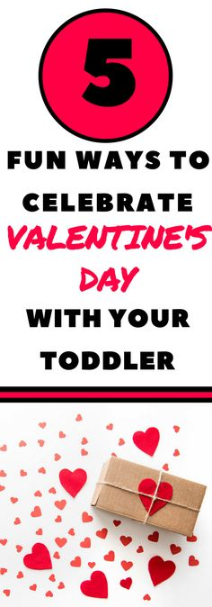 Toddler Valentine's Day Ideas:  Need some ideas on how to celebrate Valentine's day with your toddler?  These toddler activities are fun and easy which is perfect for busy moms.  Explore sensory activities, encourage fine motor skills, and grow your toddler's vocabulary all while celebrating Valentine's day.  Craft ideas included as well! #Valentinesday #Toddleractivities