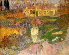 Mas, near Arles, 1888 by Paul Gauguin, Breton period. Post-Impressionism. landscape. Private Collection
