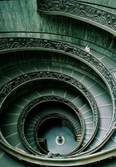 The Vatican/ I can't really tell why exactly but somehow I find the spiral staircase in the Vatican Museum stunningly beautiful.(and it makes me so sad that I had the opportunity to see it in real life, but our tour group used the escalator...a freakin' escalator... :,(