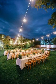 glowing wedding reception for your outdoor reception