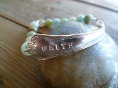 Faith! Armbånd av t skje og Amasonite. www.epla.no/shops/byjanem/ Facebook.com/ByJaneM/ Bracelets made from the shaft of an old spoon. Spoon Jewelry, Bracelet Making, Cuff Bracelets, Shops, Faith, Facebook, Tents, Making Bracelets, Retail