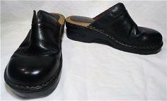 Bjorndal Black Molly Leather Clogs Shoes Size 8.5M http://www.ebay.com/itm/251392031846?ssPageName=STRK:MESELX:IT&_trksid=p3984.m1555.l2649