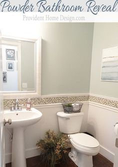 Powder Bathroom Makeover Reveal Take 2.