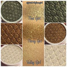 """3 of the 6 eye shadows from the Colourpop 2015 LE Holiday Set """"Blitzed"""" - will post the other 3 shortly.  #colourpop #swatch #eyeshadow #limitededition #holidayset #makeup #makeupaccount #follow #followme #instalike #instagood #beauty #beautyaccount"""
