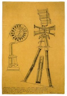 Max Ernst (1891-1976), Self-Constructed Little Machine, 1919/20, graphite with pen and black ink on tan wove paper, Art Institute of Chicago
