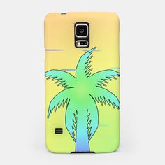 A colorful Samsung Galaxy case with a #tropical vibe #LiveHeroes #palmtree