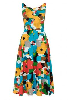 9187b52b05f Margot Midi Dress in Fire Shade Floral by Emily and Fin