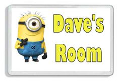 Despicable Me Minion Personalised Kids Door Plaque - Childs Bedroom *Great Gift*