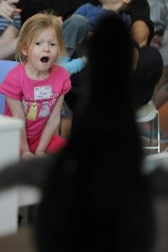 Love this picture, we had a visit from Kaden, a Penguin from the National Aviary, yesterday at Children's.