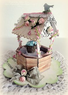 Make it Crafty Wishing Well ~ Creating from the Heart 3d Paper Crafts, Fun Crafts, Crafts For Kids, Arts And Crafts, Wishing Well Wedding, Rena, 3d Craft, Magnolia, Shabby Chic Crafts