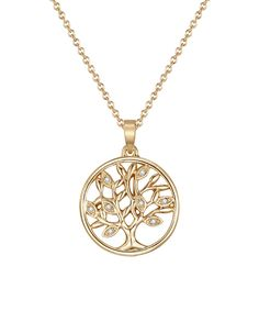 Goldtone Fiery Tree of Life Necklace With Swarovski® Crystals. . ..  MESTIGE. . ..  $16.99 $50.00  . Product Description:  Enriched with Swarovski® crystals, this flourishing pendant necklace animates ensembles with stunning radiance.      Chain: 17'' L with 2.75'' extender  .     Pendant: 20 mm W x 27.12 mm L  .     Lobster claw clasp  .     Goldtone-plated brass / Swarovski® crystal  .     Imported