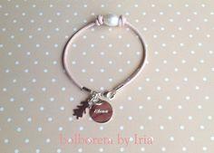 Bolboreta by Iria (complementos): Pulsera en rosa palo&plata de ley para la mamá de ...