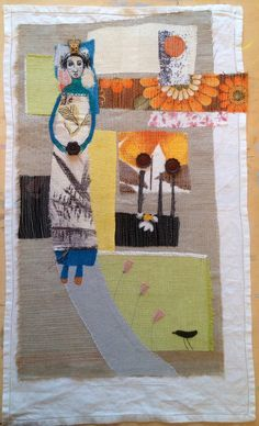 'The Queen Of Sheba's Garden'. Machine embroidered wall hanging. mrsbertimus.blogspot.com