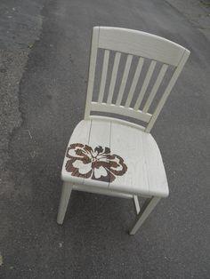 decorated chair. #stencil