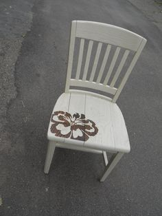 decorated chair. #stencil