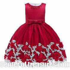 Girls Dresses Flower Cake Tutu Kids Clothing Elegant Hand Beading for Children Princess Party Custumes Years Red Flower Girl Dresses, Baby Girl Party Dresses, Little Girl Dresses, Girls Dresses, Flower Girls, Party Dresses For Kids, Pageant Dresses, 10 Years Girl Dress, Dress For Girl Child
