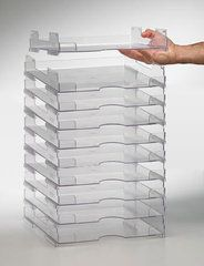 Display Dynamics Perfect Paper Stackable Paper Trays - Lipped x Turn your craft area or scrapbook room into an efficient and organized space for