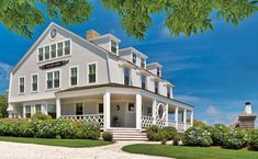 Traditional Coastal Cottage ~  Located in a small sea-side town in Massachusetts, this traditional coastal cottage is pure elegance