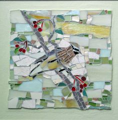 mosaics with nature as the theme, subjects include birds, warblers, owls, turtles, fish, mosaic landscapes