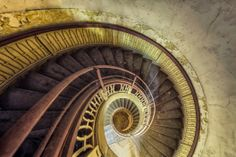 My Photos Of Stairs In Abandoned Buildings That I've Collected Over The Years - Christian Richter Stairway To Heaven, Urban Decay Photography, Novelty Lamps, Cool Photos, My Photos, Old Abandoned Buildings, Abandoned Places, Building Stairs, Stair Landing