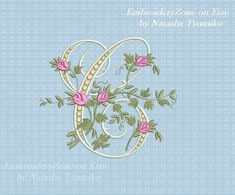 Monogram С from the beautiful alphabet. Font С от EmbroideryZone