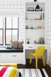 Upstate Farmhouse — Chango & Co Custom Furniture, Furniture Design, Boy Room, Kids Room, Funky Wallpaper, Bedroom Desk, Built In Shelves, Cool Patterns, Space Saving