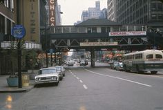 https://flic.kr/p/6B8AMg | State and Wacker Looking South - Chicago, Illinois | Taken in either June or July of 1962.