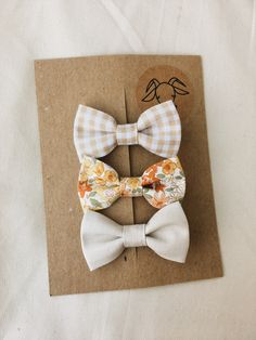 Bows for baby girls or for older girls.